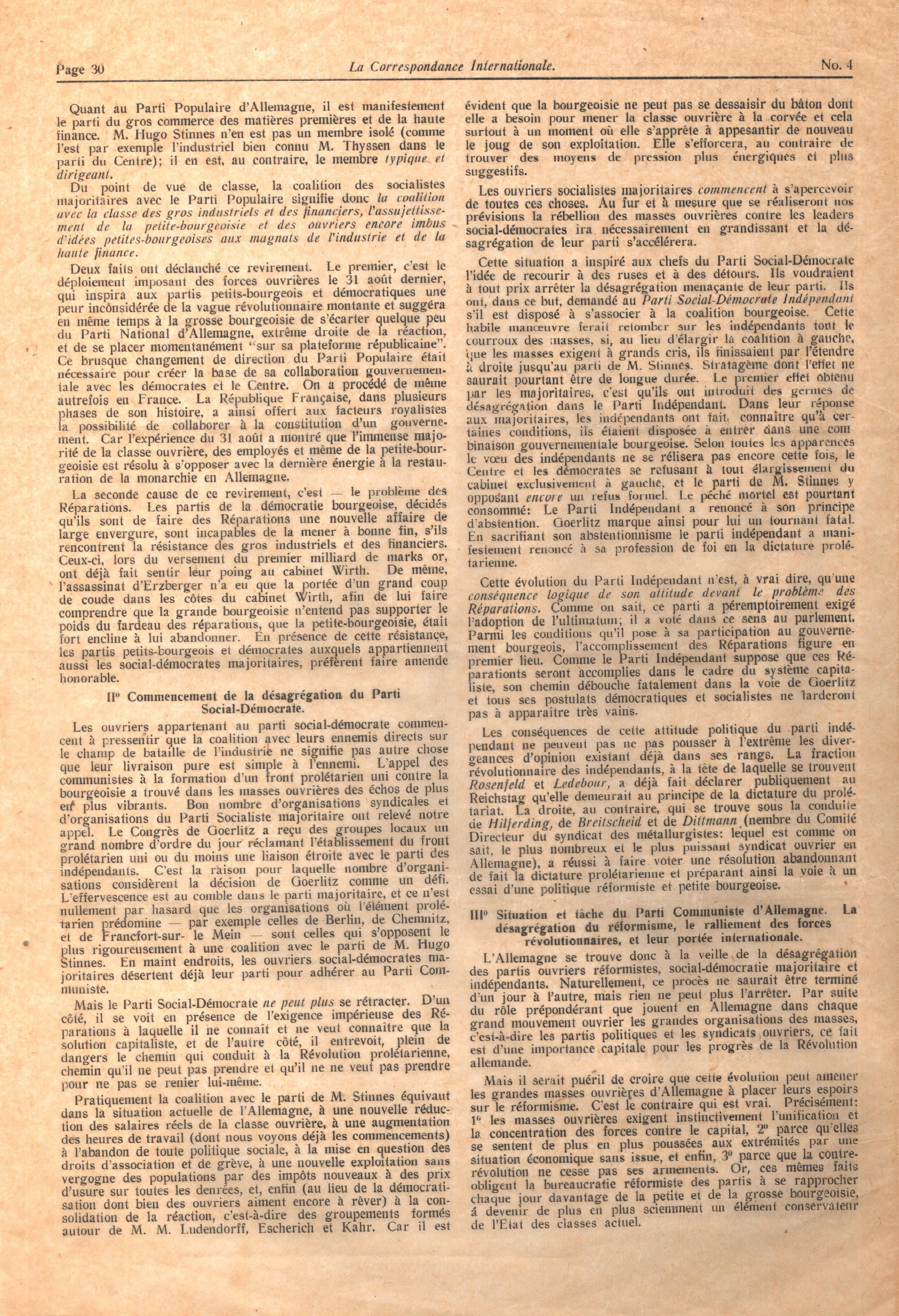 Correspondance Internationale n. 4 - pag. 2