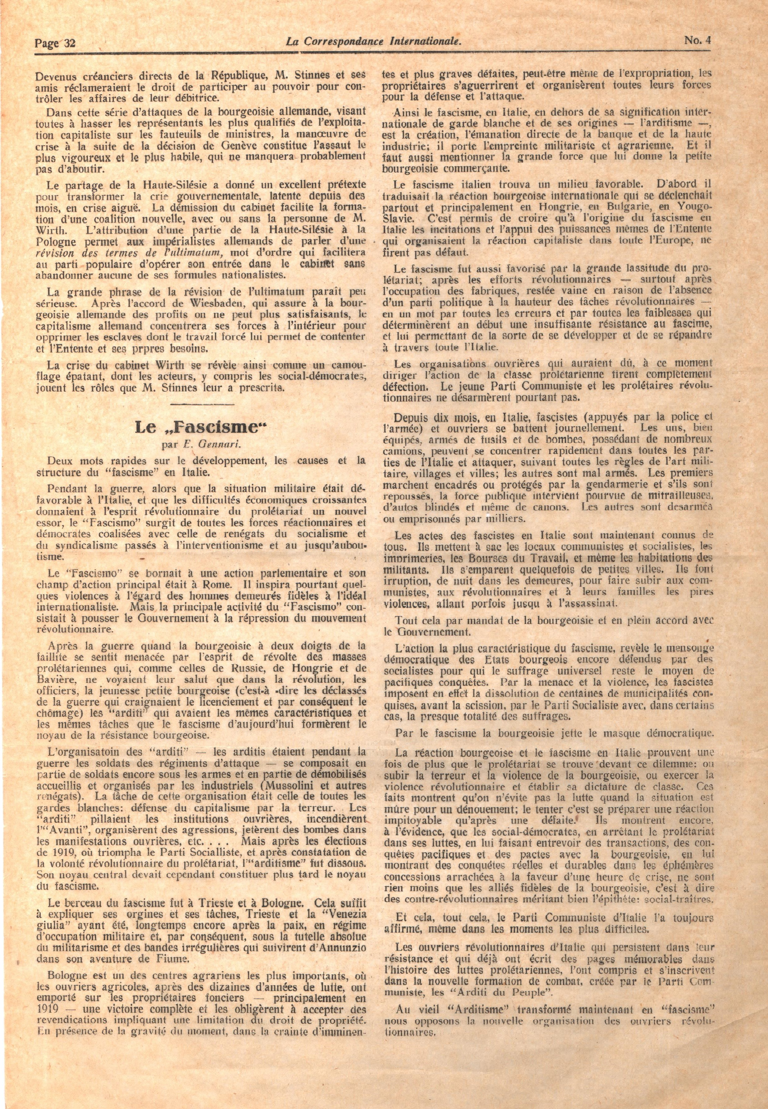 Correspondance Internationale n. 4 - pag. 4